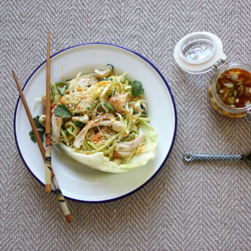 Chicken courgetti noodles