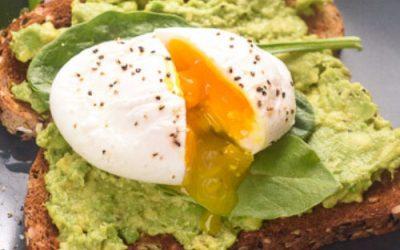 Poached egg & guacamole