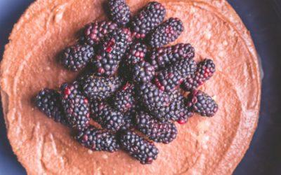 Raw Raspberry & Strawberry cheesecake