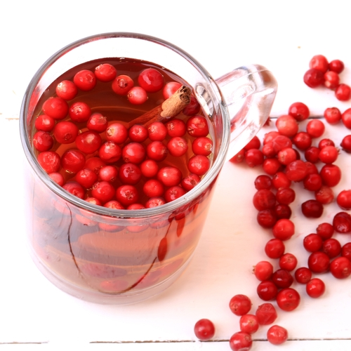 Cranberry and ginger juice