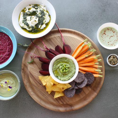 Herb and olive dip