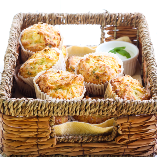 Courgette & feta muffins