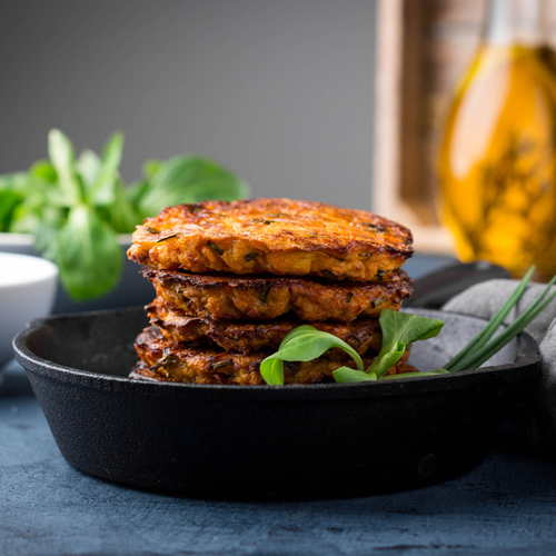Sweet potato and broccoli fritters