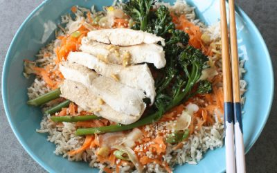 Brown Rice, Chicken and Pickled Ginger Salad