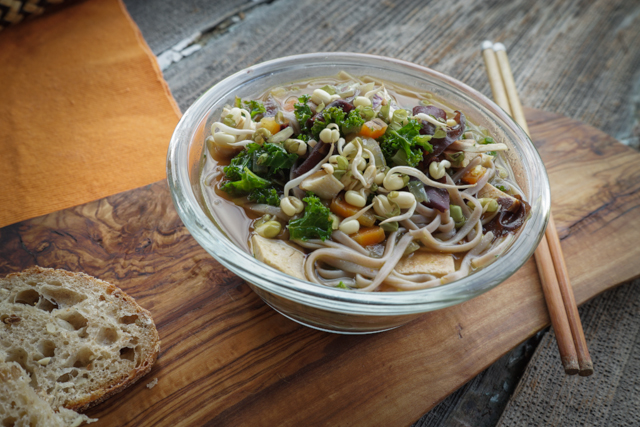 Miso Soba Noodle Bowl