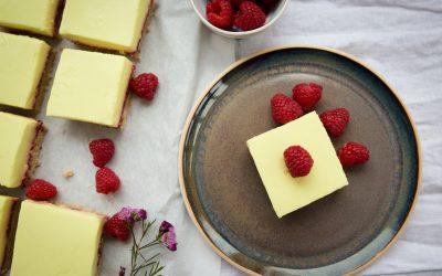 Lemon & raspberry slices – vegan & gluten-free